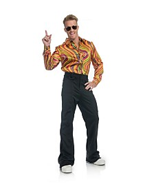 BuySeasons Men's Rainbow Lights Disco Shirt