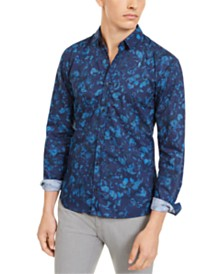 Hugo Boss Men's Extra-Slim Floral Shirt