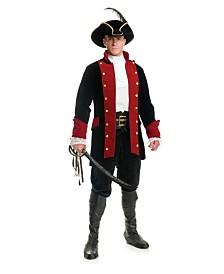 BuySeasons Men's Velvet Pirate Prince Black Jacket Plus Adult Costume