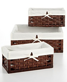 Storage Baskets, Set of 3 Paper Rope Utility