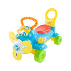 Lil' Rider Ride On Toy Airplane Electronic Wheeled Scooter and Push Plane