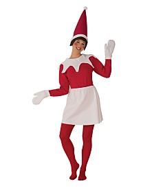 BuySeasons Women's Sitting Elf Woman Adult Costume