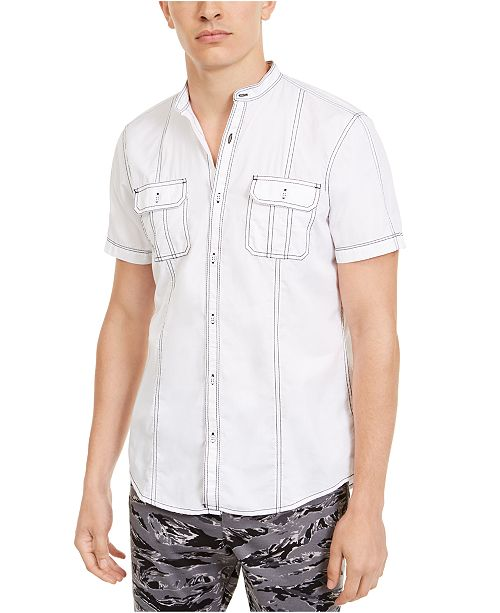 INC International Concepts I.N.C Men's Stanley Short Sleeve Shirt, Created For Macy's