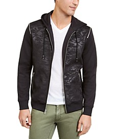 INC Men's Mesh Camo Hooded Jacket, Created For Macy's