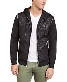 INC Men's Mesh Camo Hooded Jacket, Created For Macy's