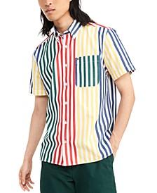 Men's Augustine Custom-Fit Colorblocked Stripe Shirt