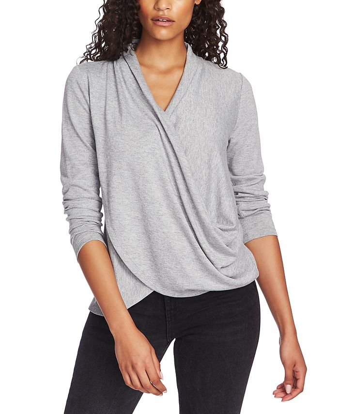1.STATE - Cross-Front Cozy Top