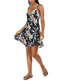Juniors' Lahaina Bay Printed Be in Love Cover-Up Dress