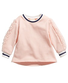 First Impressions Baby Girls Fleece-Trim Sweater, Created For Macy's