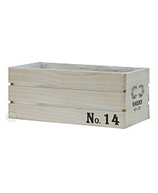 Gardenised Distressed Wood Crate Planter - Large