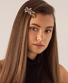 Soho Style Floral Crystal Barrette