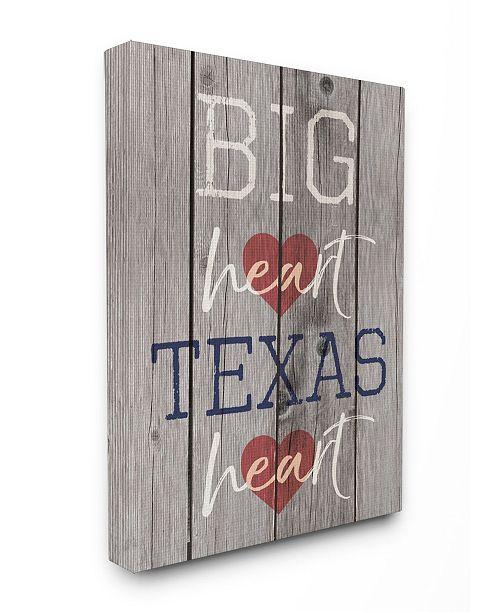 """Stupell Industries Big Heart Texas Heart Canvas Wall Art, 24"""" x 30"""""""