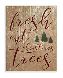 Fresh Cut Christmas Trees Tan Wall Art Collection