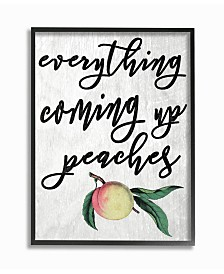 """Stupell Industries Georgia Coming Up Peaches Icon Framed Giclee Art, 11"""" x 14"""""""