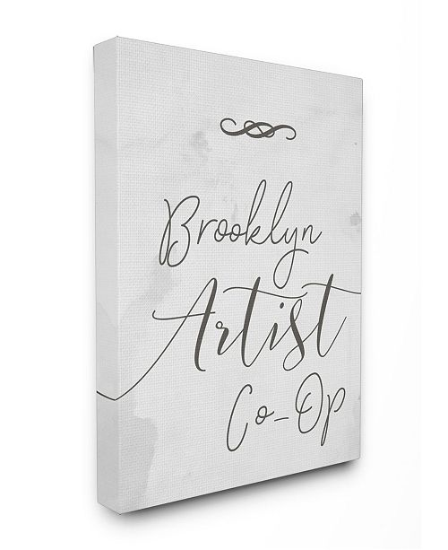 """Stupell Industries Brooklyn Artist Co-Op Typography Sign Canvas Wall Art, 24"""" x 30"""""""