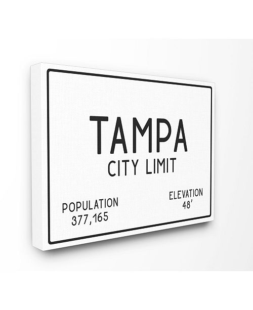 """Stupell Industries Tampa City Limit Canvas Wall Art, 24"""" x 30"""""""