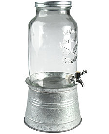 Artland Masonware Galvanized Tin and Glass Beverage Dispenser