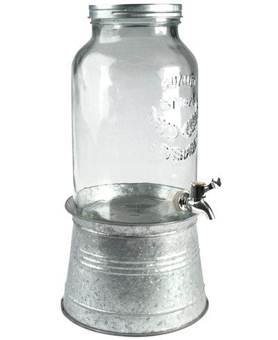 Artland Oasis Galvanized Tin and Glass Beverage Dispenser