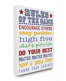 The Kids Room Rules of the Game Blue and Red Typography Art Collection