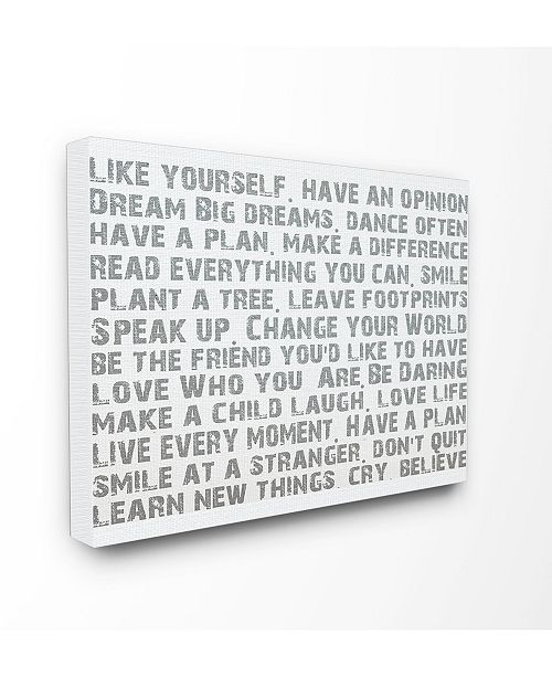 """Stupell Industries Home Decor Like Yourself Inspirational Typography Cavnas Wall Art, 16"""" x 20"""""""