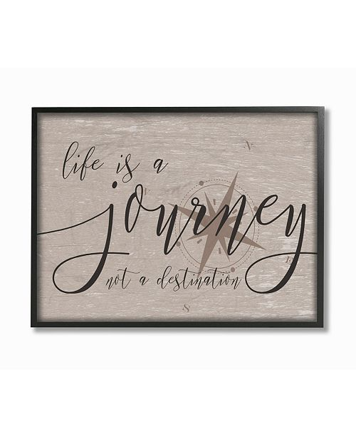 """Stupell Industries Life is a Journey Framed Giclee Art, 11"""" x 14"""""""