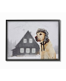 """Nordic Vibes Golden Retriever Dog Framed Giclee Art, 11"""" x 14"""""""