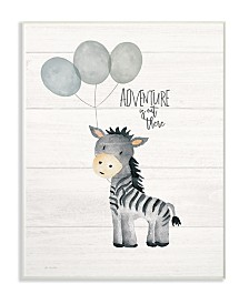 """Stupell Industries Adventure is Out There Zebra Wall Plaque Art, 10"""" x 15"""""""