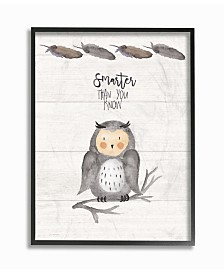 """Stupell Industries Smarter Than You Know Owl Framed Giclee Art, 16"""" x 20"""""""