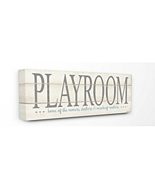 "Playroom Home of Mischief Makers Canvas Wall Art, 10"" x 24"""