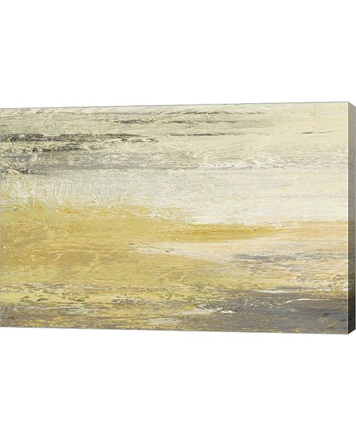 "Metaverse Siena Abstract Yellow Gray Landscape by Studio Nova Canvas Art, 36"" x 24"""