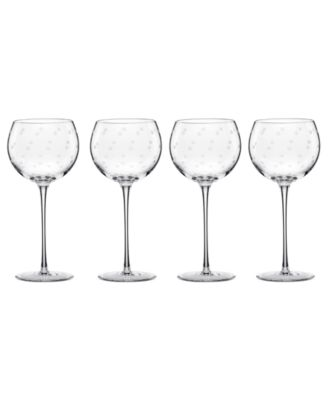 Set of 4 Larabee Dot Balloon Glasses