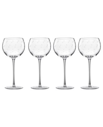 kate spade new york Set of 4 Larabee Dot Balloon Glasses