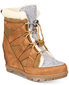 Women's Joan Of Arctic Wedge Cozy Booties