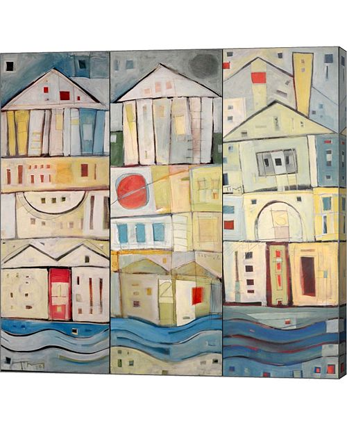 """Metaverse Rowhouses by Tim Nyberg Canvas Art, 24.5"""" x 24"""""""
