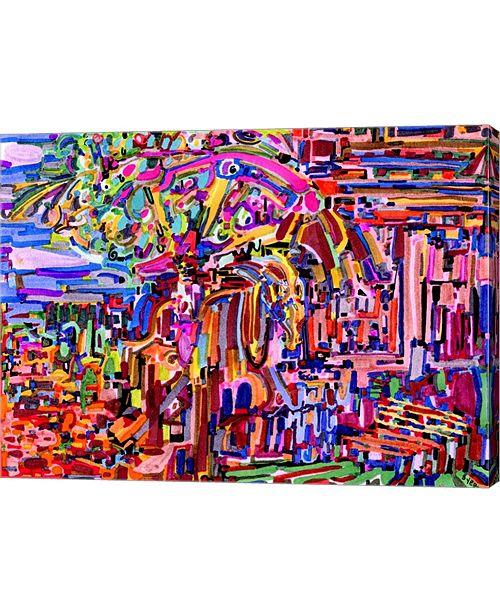 "Metaverse Alone on Horseback At Night by Josh Byer Canvas Art, 27"" x 20"""