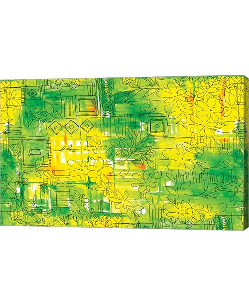 """Metaverse Lemon Lime by Stessi Canvas Art, 25"""" x 16"""""""
