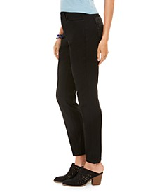 Petite Bling Pocket Tummy-Control Jeans, Created For Macy's