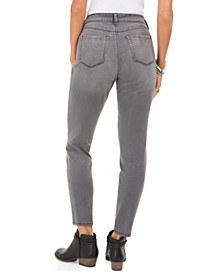 Curvy-Fit Skinny Bling Pocket Jeans, Created For Macy's