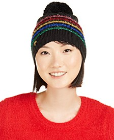 Rainbow-Stripe Beanie