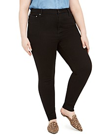 Seven7 Plus Size High-Rise Skinny Jeans