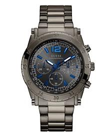 Men's Chronograph Gunmetal Stainless Steel Bracelet Watch 46mm