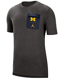 Jordan Men's Michigan Wolverines Tech Cool T-Shirt