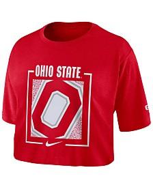 Nike Women's Ohio State Buckeyes Crop T-Shirt