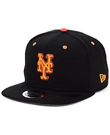 New Era New York Mets Orange Pop 9FIFTY Cap