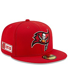 New Era Tampa Bay Buccaneers On-Field Sideline Road 59FIFTY-FITTED Cap