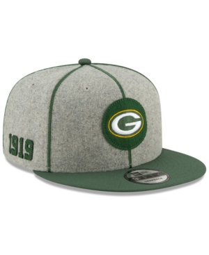 New Era Green Bay Packers On-field Sideline Home 59fifty-fitted Cap In Gray/green