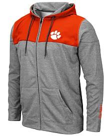 Colosseum Men's Clemson Tigers Nelson Full-Zip Hooded Sweatshirt