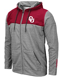 Colosseum Men's Oklahoma Sooners Nelson Full-Zip Hooded Sweatshirt