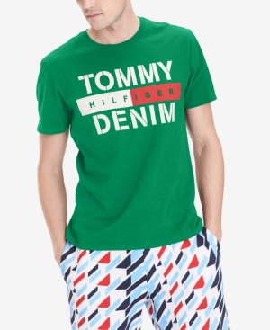 Tommy Hilfiger Denim Men's Feller Logo Graphic T-Shirt In Verdant Green
