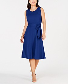 Petite Belted Midi Dress, Created for Macy's